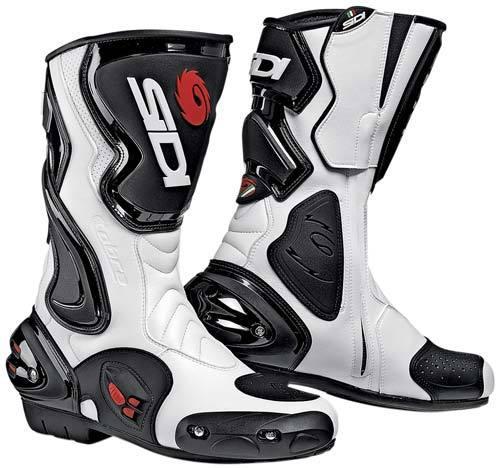 Stivali moto Racing Sidi Cobra bianco-neri