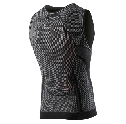 Sixs sleeveless shirt with protections predisposition