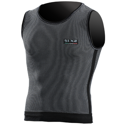 Sixs running sleeveless shirt Black