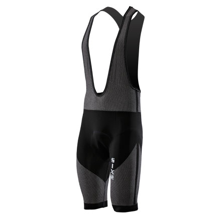 Bib shorts with pad Sixs Black