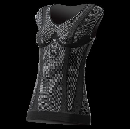 Sixs sleeveless woman shirt Black