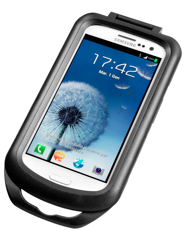 Water resistant GALAXY S III holder for motorcycles