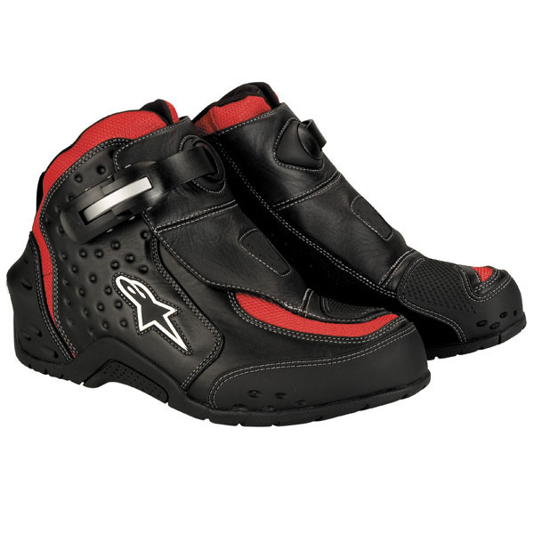 Alpinestars S-MX 1 motorcycle shoes black-red