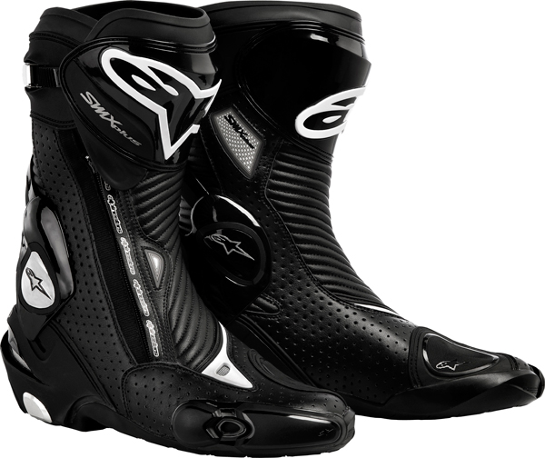 Alpinestars Smx Plus motorcycle boots black vented
