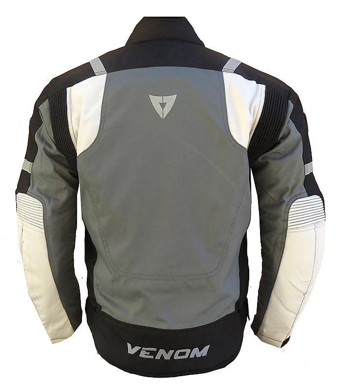 Giubbotto moto Venom Speed 3 strati nero grigio