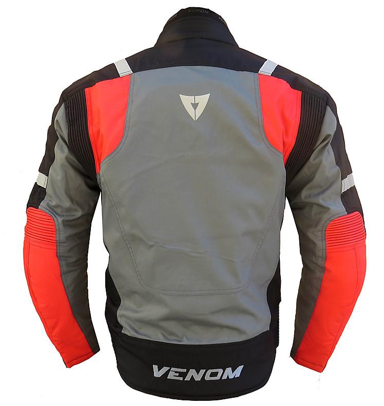 Giubbotto moto Venom Speed 3 strati nero rosso