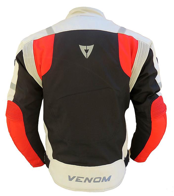 Giubbotto moto Venom Speed 3 strati nero rosso silver