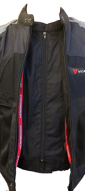 Venom Sport Air all seasons jacket black red silver