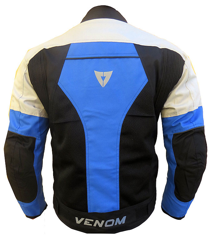 Venom Sport Air all seasons jacket Black Silver Blue