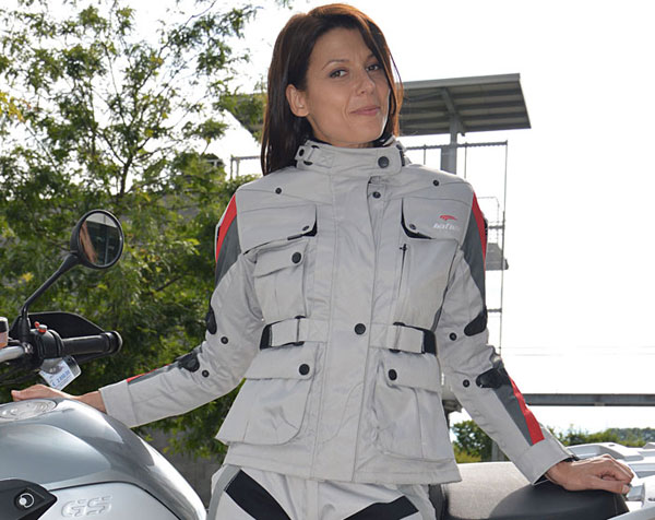 Giacca moto donna Four Climath Befast 4 stagioni Grigio Rosso