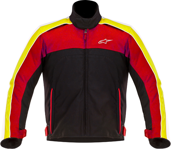 Giacca moto Alpinestars SOLARIS nero-bianco-rosso-giallo
