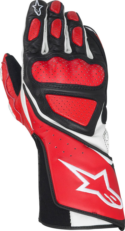 ALPINESTARS SP-8 leather gloves red