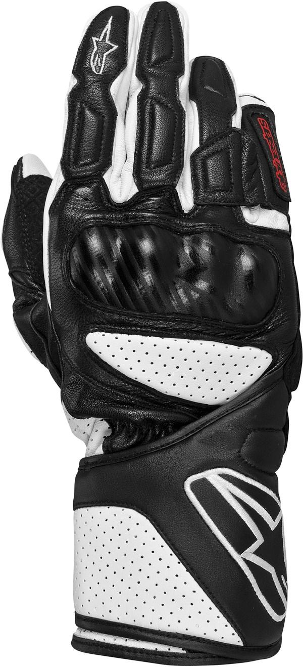 Alpinestars SP-8 leather gloves black-white