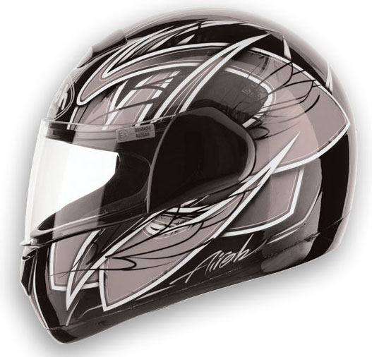 Casco moto Airoh Speed Fire Race Grey