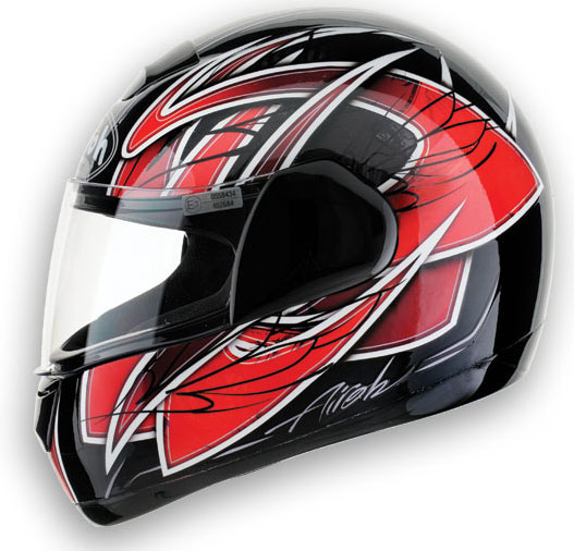 AIROH Speed Fire Race Full Face Helmet - Col. Red