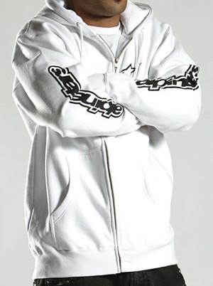 Spelled out fleece sweatshirt white Alpinestars