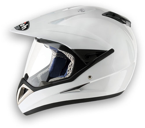Casco moto Airoh S4 Color bianco lucido