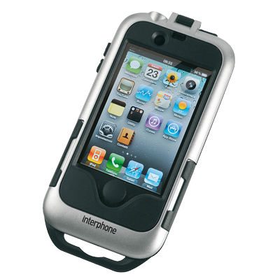 Cellular line for non-tubular handlebars IPhone4 holder silver