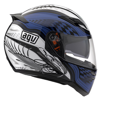 Casco moto Agv Stealth SV Multi Track nero-blu