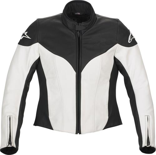 Alpinestars Stella Ice leather women jacket white-black