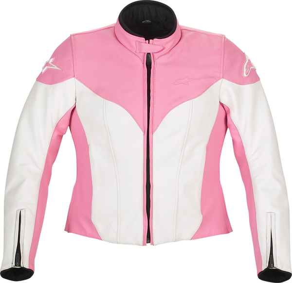 Alpinestars Stella Ice leather women jacket white-pink