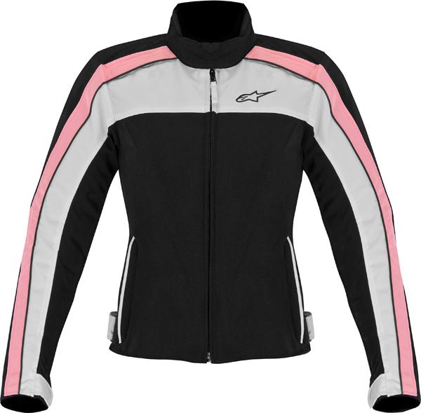 Giacca moto Alpinestars Stella Solaris TX nero bianco rosa