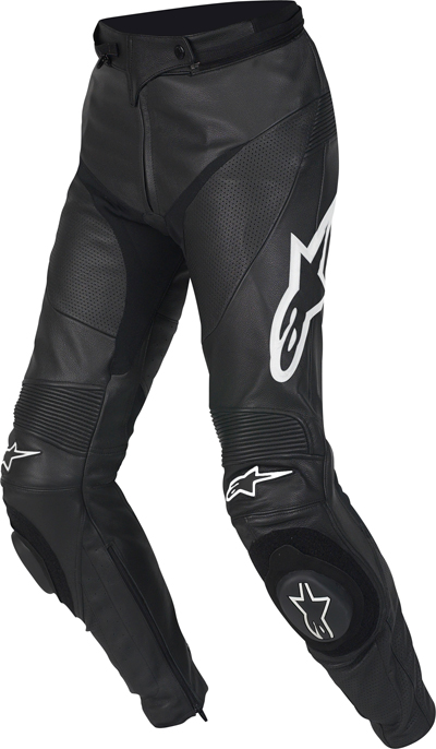 Pantaloni moto donna pelle Alpinestars Stella Track neri
