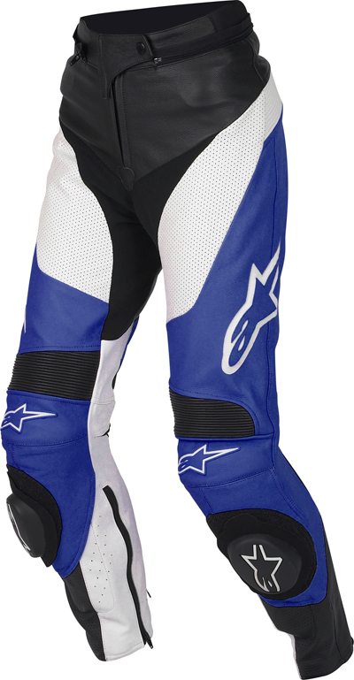 Alpinestars Stella Track leather women pants blue