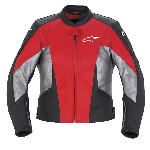 Giacca moto donna in pelle Alpinestars Stella TX-1 rosso-nera