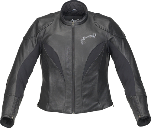 Giacca moto donna in pelle Alpinestars Stella Tyla nera