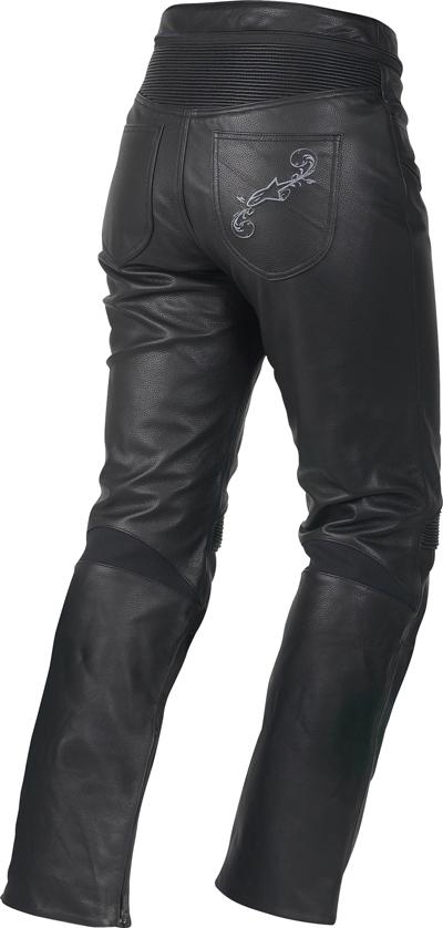 Pantaloni moto donna pelle Alpinestars Stella Tyla neri
