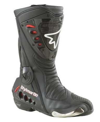 Sonic Rs black boots Stylmartin
