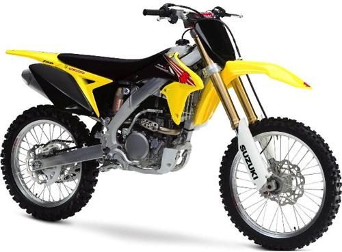 UFO plastic kit bike 250cc Suzuki RMZ 2013 White