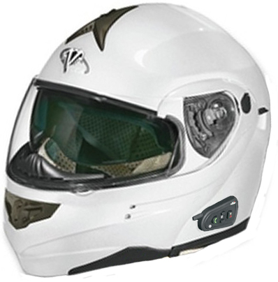 Casco modulare Vega SUMMIT 3 con Bluetooth integrato BiancoPerla