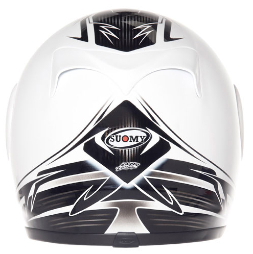 Casco moto integrale Suomy Apex 60's Legend bianco