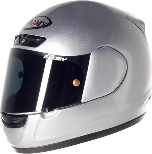 Casco moto integrale Suomy ApePlain silver