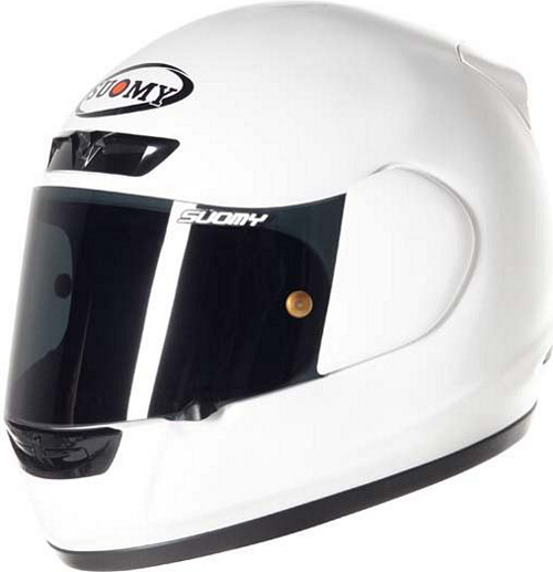Casco moto integrale Suomy ApePlain bianco
