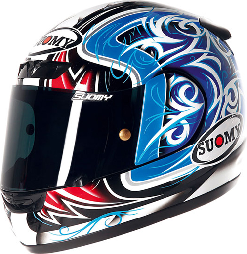 Casco moto integrale Suomy ApeTornado blue-red