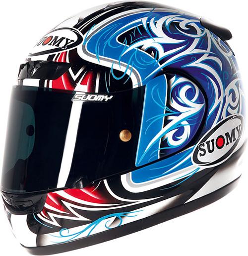 SUOMY Apex Tornado full-face helmet blue-red