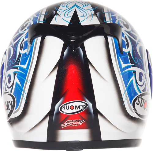 Casco moto integrale Suomy Apex Tornado blue-red