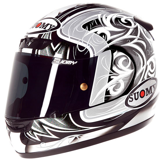 Casco moto integrale Suomy Apex Tornado silver-antracite