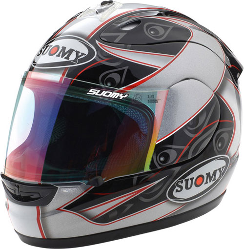 Casco moto integrale Suomy Excel Double Grey