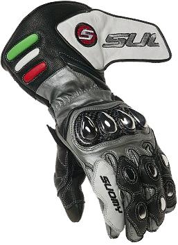 Guanti moto Suomy Racing colore grigio-nero