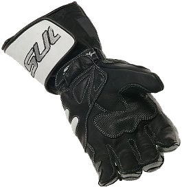 SUOMY Racing leather gloves col. grey-black