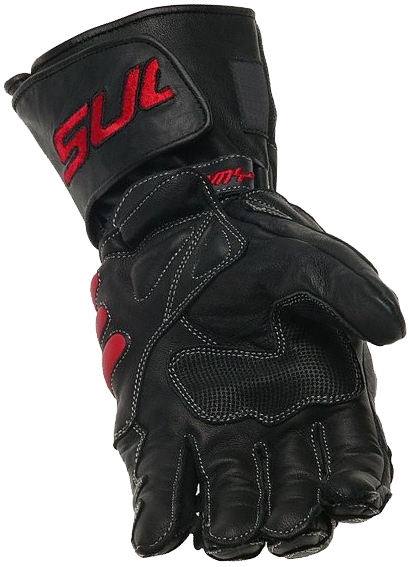 SUOMY Racing leather gloves col. black