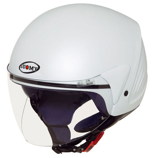 Casco moto Suomy Jet Light Plain bianco perla