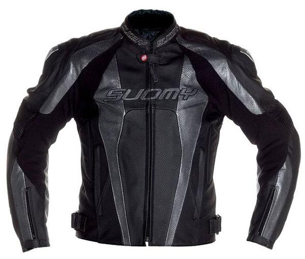 Suomy Rebel leather jacket Black Grey