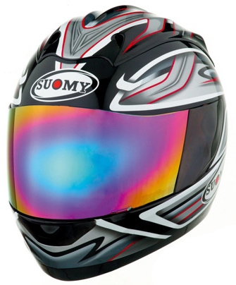 Casco moto integrale Suomy  Graphic nero lucido