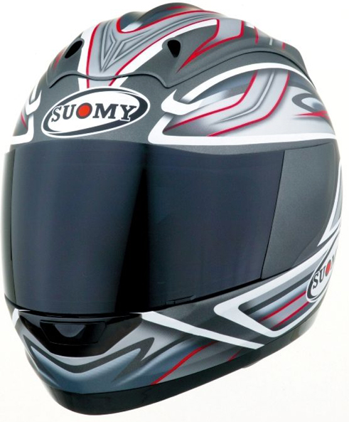 X Casco moto integrale Suomy Graphic antracite opaco