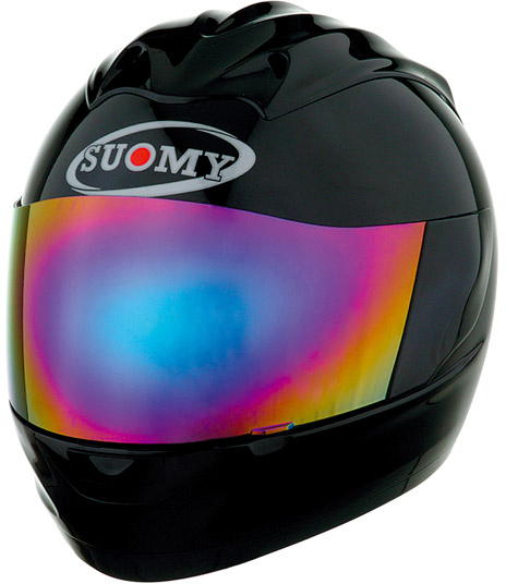 Casco moto integrale Suomy Trek Plain nero lucido
